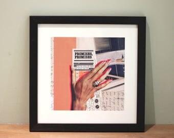 Promises, Promises - Digital Collage Art Print Poster
