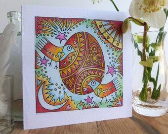 Cosmic Egg Easter greetings card