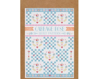 Tilda Plaid Cabbage Rose pattern