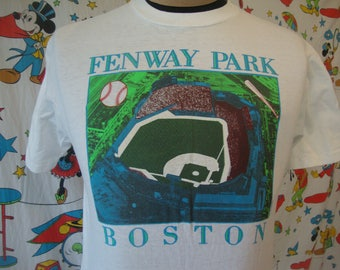 Vintage 80's Fenway Park Boston Red Sox 100% Cotton Made in USA Hanes T Shirt Sz S