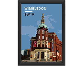 Wimbledon Theatre SW19 - Giclée Art Print - South London Poster