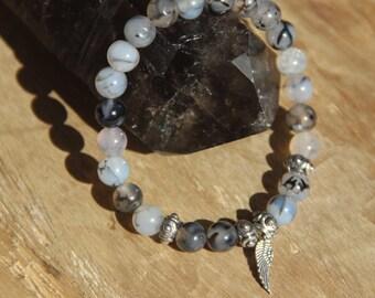 Agate Bracelet - Grade A - Dragon Vein - MEN'S