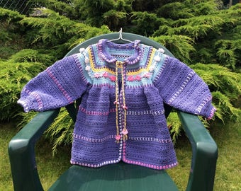 Small jacket summer crochet cotton on the order throughout