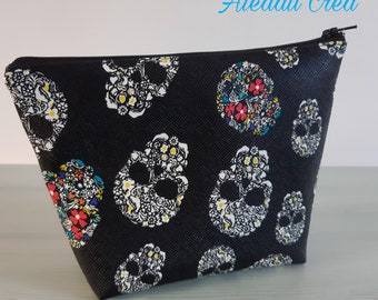Faux leather cosmetic case.