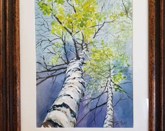"Original Watercolor Painting 8"" x 11"" framed"