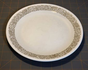 "Two (2) Vintage Corelle WOODLAND BROWN Salad Plates 8 1/2 """