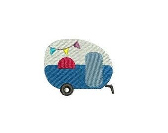 Mini Camper-Machine Embroidery Design