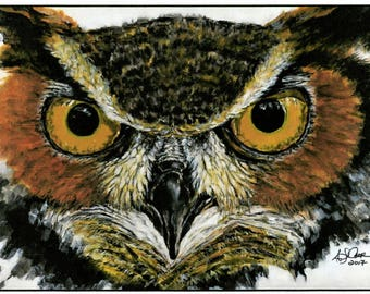 Cards With Something to Say. Great Horned Owl