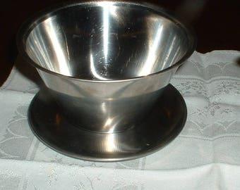 Vintage Stainless Steel Gravy//Sauce Bowl   Marked 18/8  Made in Denmark