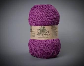 Violet yarn Eco yarn Cotton yarn Linen yarn Summer yarn Crochet yarn Ethno-cotton 1200 Cotton linen yarn Premium yarn Baby yarn