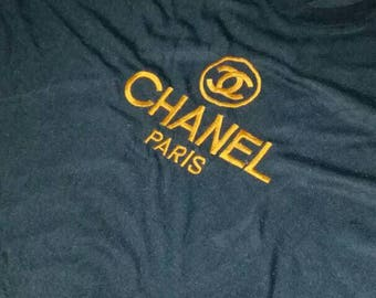 Vintage chanel big logo spell out