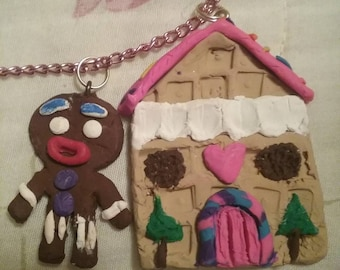Ginger bread man and a waffle cone cottage