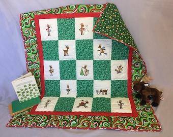 Christmas Reindeer - Baby Quilt