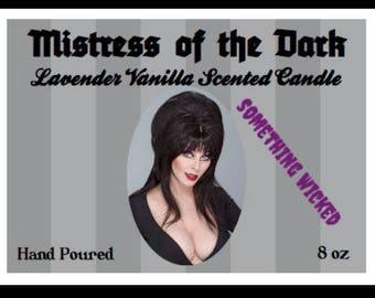 Elvira Mistress of the Dark Inspired Candle