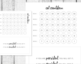 6-Week Cut Countdown Accountability Sheet for Fitness Goals