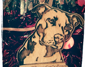 Hanging decoration ( Staffordshire Bull Terrier )