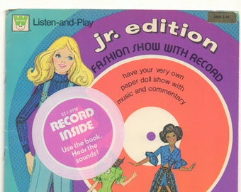 Vintage Seventies Paper Dolls with Record