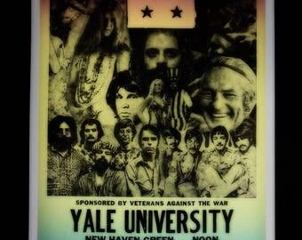 Grateful Dead @ End the War Rally retro concert poster