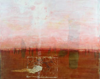 Encaustic Mixed Media Painting- Well This Is Different