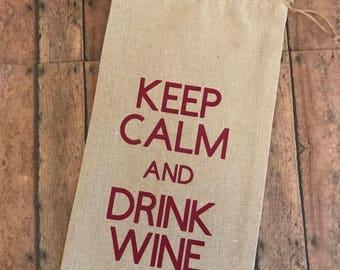 Wine gift bags, Wine tote, Burlap wine bag, gift bag