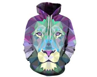 Lion Hoodie, Lion, Lion Hoodies, Animal Prints, Animal Hoodie, Animal Hoodies, Lions, Hoodie Lion, Hoodie, 3d Hoodie, 3d Hoodies - Style 6