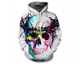 Skull Hoodie, Skull, Skull Hoodies, Skull Prints, Scalp Hoodie, Gothic, Skeleton, Skulls, Scalp, Hoodie, 3d Hoodie, 3d Hoodies - Style 15