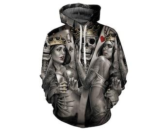 Skull Hoodie, Skull, Skull Hoodies, Skull Prints, Scalp Hoodie, Gothic, Skeleton, Skulls, Scalp, Hoodie, 3d Hoodie, 3d Hoodies - Style 17