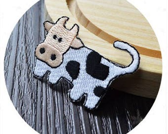 cute milk cow patch/iron on patch/animal patch/embroidered /diy/applique/gorgeous