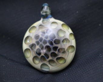 Organic Glass Honeycomb Implosion Pendant