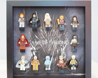 Game of Thrones, Lego, Lego frames, Jon Snow, Daenerys, valentine, gift for him, anniversary, birthday, anniversary inspired by LEGO