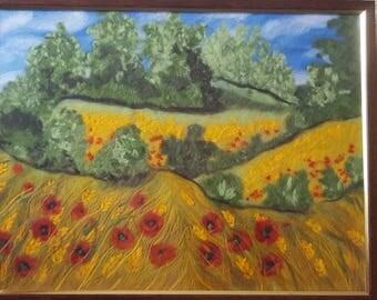 "Wool picture ""Field"""