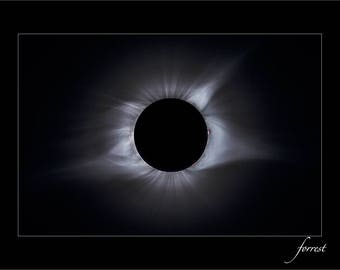 2017 Solar Eclipse, Totality,  Fine Art Photograph, Night Photography, Astro Photography, Solar Photography, Stars Prominence