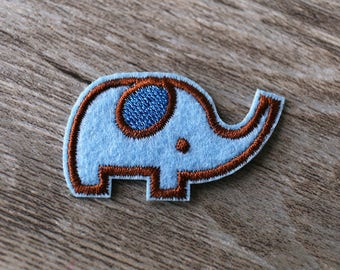 Baby Elephant Iron On Patch, Sew On Patch, Embroidered Patch, Iron on patch,blue Elephant patches