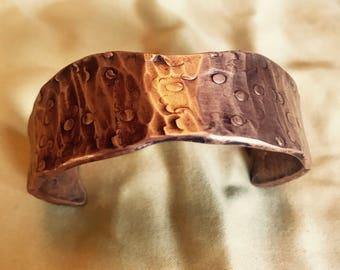 Raindrop Copper Cuff