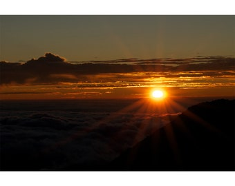 Sunrise at Haleakala National Park Maui Hawaii II Fine Art Photography Print
