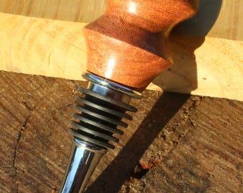 Mesquite Wood Chrome Bottle Stopper