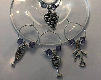 Wine Glass Charms set of 4