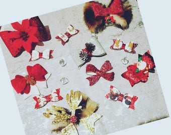 Advent Bows 12 Days of Christmas hair bows or decorations