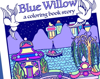 Blue Willow Coloring Book / Adult Coloring Books / Mandalas to Color / 3D Ornaments to Color / Blue Willow Collections / Coloring Bookmarks