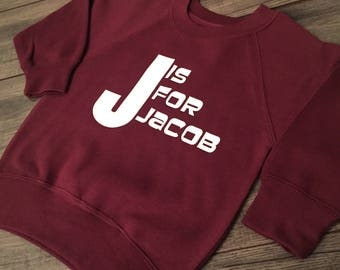 Personalised Initial and Name Sweatshirt