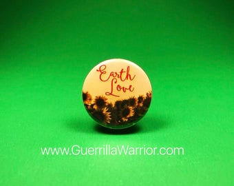 Earth Love (1.25 inch pinback button)