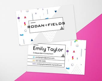 Rf Business Card Etsy - Rodan and fields business card template