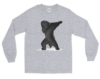 Cute Dabbing Newfoundland Dog Long Sleeve T-Shirt Funny Dab Dance Gift