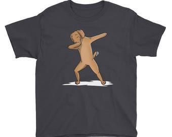 Funny Dabbing Vizsla Youth Short Sleeve T-Shirt