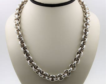 Tiffany and Co-Sterling Silver Rolo Chain Necklace