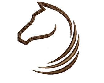Horse Embroidery Design Horse Head Embroidery Design Horse Ouline Horse Head Silhouette Horse Circle Head