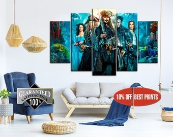 Captain Jack Sparrow canvas, Pirates of the Caribbean movie, Art Home Decoration, Pirates of the Caribbean print, Pirates of the Caribbean
