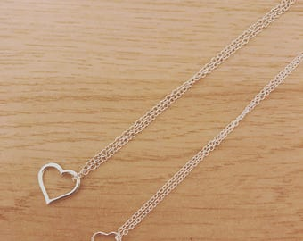 Sterling silver heart necklaces