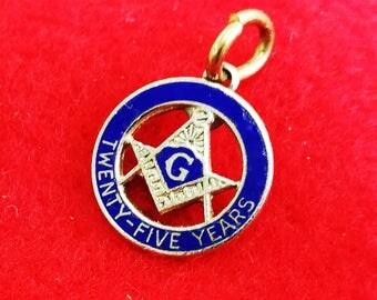 Masonic Charm  25 years award