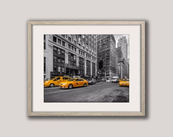 New York Taxi, New York City, New York Photography, Yellow Taxi, New York Print, City Photo